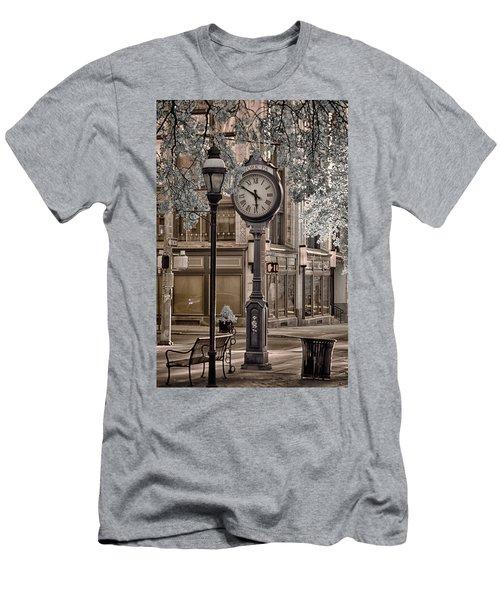 Clock On Street Men's T-Shirt (Athletic Fit)