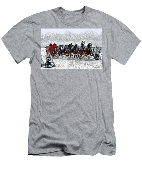 Clydesdales Hitch In Snow Men's T-Shirt (Athletic Fit)