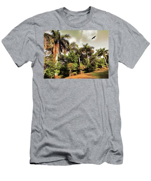 Coconut Trees Men's T-Shirt (Athletic Fit)
