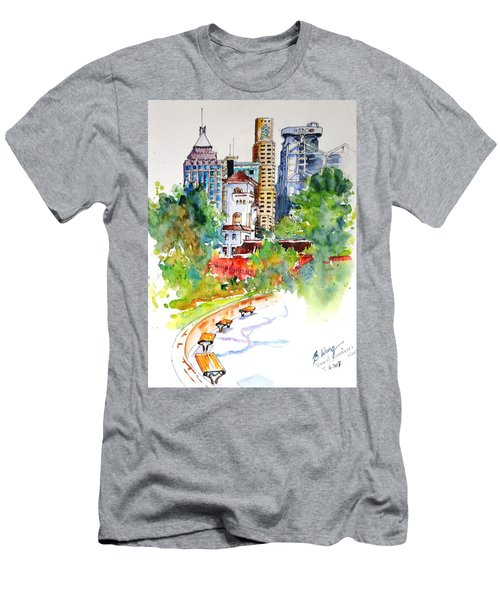 Colonial Vs The Modern In Hong Kong Men's T-Shirt (Athletic Fit)
