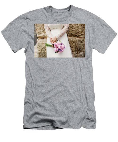 Colorful Bridal Bouquets With Flowers Men's T-Shirt (Athletic Fit)