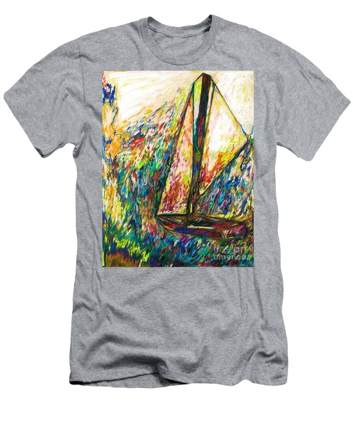 Colorful Day On The Water Men's T-Shirt (Athletic Fit)