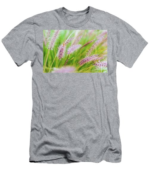 Colorful Flowers In Purple Spikes, Purple Fountain Grass, Close- Men's T-Shirt (Athletic Fit)
