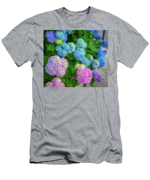 Colorful Hydrangeas Men's T-Shirt (Athletic Fit)