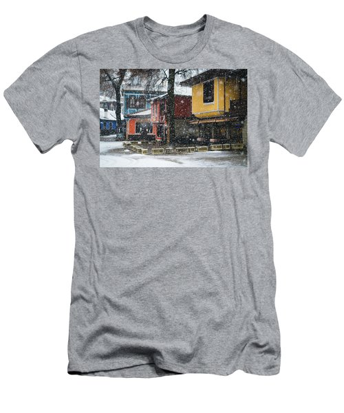 Colorful Koprivshtica Houses In Winter Men's T-Shirt (Athletic Fit)
