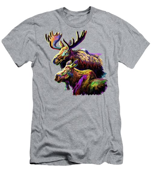 Colorful Moose Men's T-Shirt (Athletic Fit)