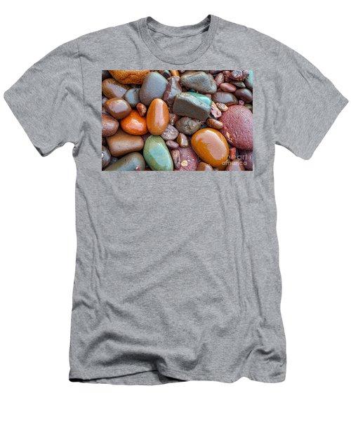 Colorful Wet Stones Men's T-Shirt (Athletic Fit)