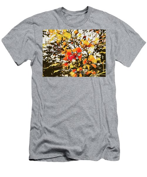 Colourful Leaves Men's T-Shirt (Athletic Fit)