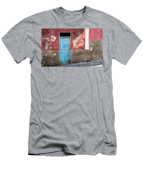 Colorful Wall With Blue Door Men's T-Shirt (Athletic Fit)