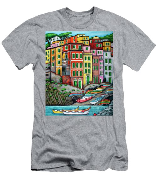 Colours Of Riomaggiore Cinque Terre Men's T-Shirt (Athletic Fit)