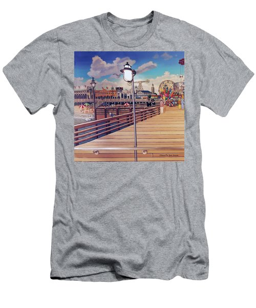 Coney Island Boardwalk Pillow Mural #1 Men's T-Shirt (Athletic Fit)