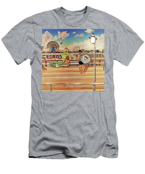 Coney Island Boardwalk Pillow Mural #4 Men's T-Shirt (Athletic Fit)