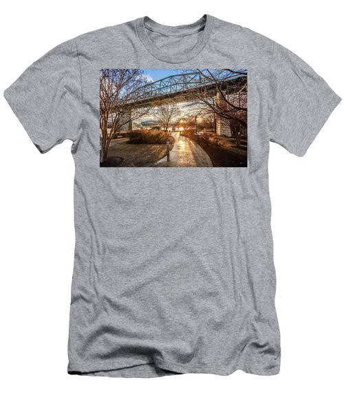 Coolidge Park Path At Sunset Men's T-Shirt (Athletic Fit)