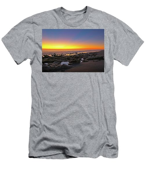 Coral Cove Nautical Twilight Men's T-Shirt (Athletic Fit)
