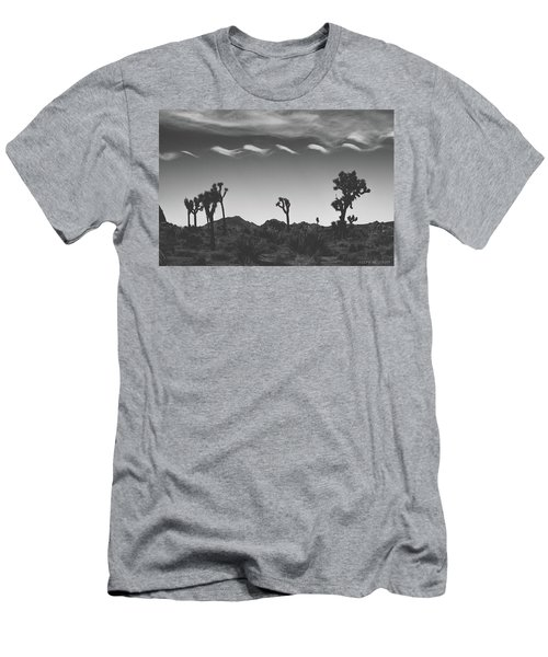 Cotton Sky On Joshua Trees Men's T-Shirt (Athletic Fit)