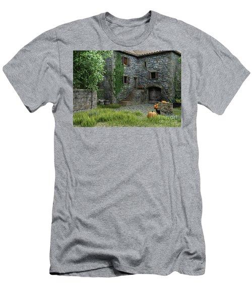 Country Farmhouse Men's T-Shirt (Athletic Fit)