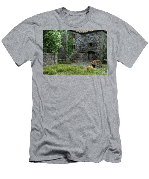 Country Farmhouse Men's T-Shirt (Athletic Fit)