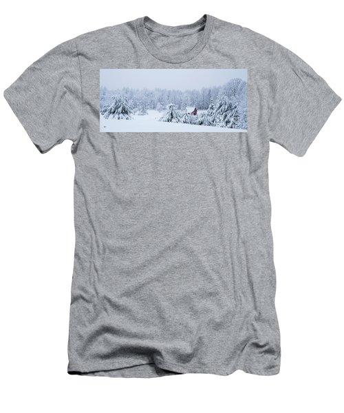 County Winter Scene  Men's T-Shirt (Athletic Fit)