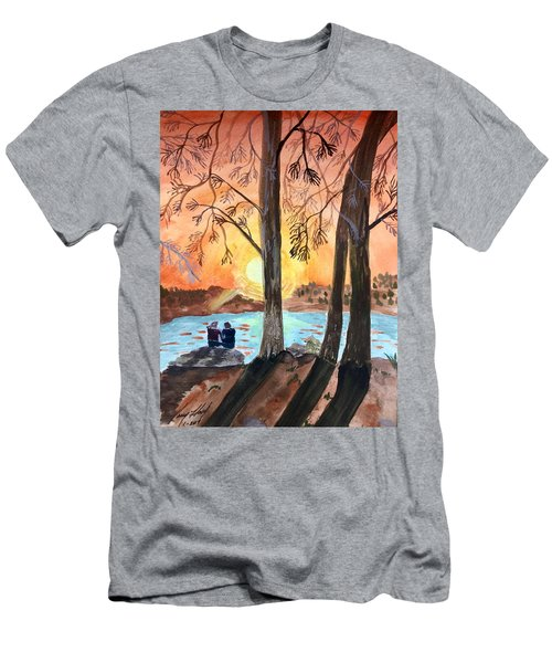 Couple Under Tree Men's T-Shirt (Athletic Fit)