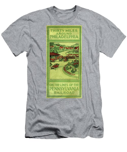 Cover Of Thirty Miles Around Philadelphia Men's T-Shirt (Athletic Fit)