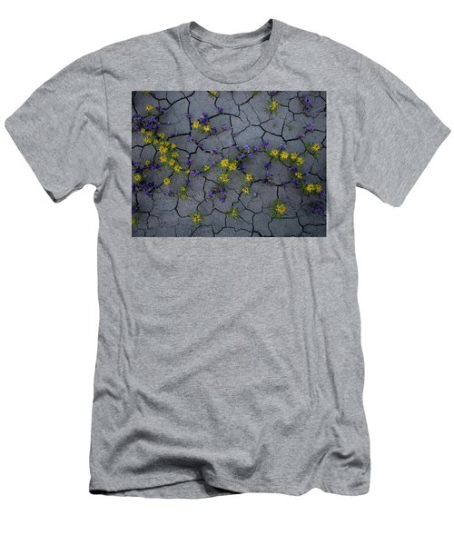 Cracked Blossoms Men's T-Shirt (Athletic Fit)