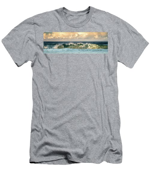 Crashing Waves And Cloudy Sky Men's T-Shirt (Athletic Fit)