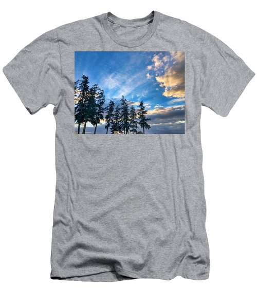 Crisp Skies Men's T-Shirt (Athletic Fit)