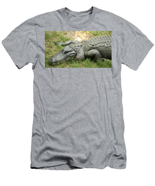Men's T-Shirt (Athletic Fit) featuring the photograph Crocodile Outside by Rob D Imagery