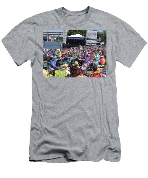 Crowd Enjoys Listening On A Sunny Day  Men's T-Shirt (Athletic Fit)