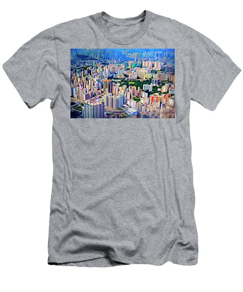 Crowded Hong Kong Abstract Men's T-Shirt (Athletic Fit)