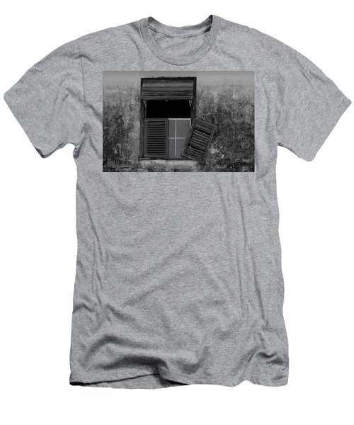 Men's T-Shirt (Athletic Fit) featuring the photograph Crumblling Window by Stuart Manning