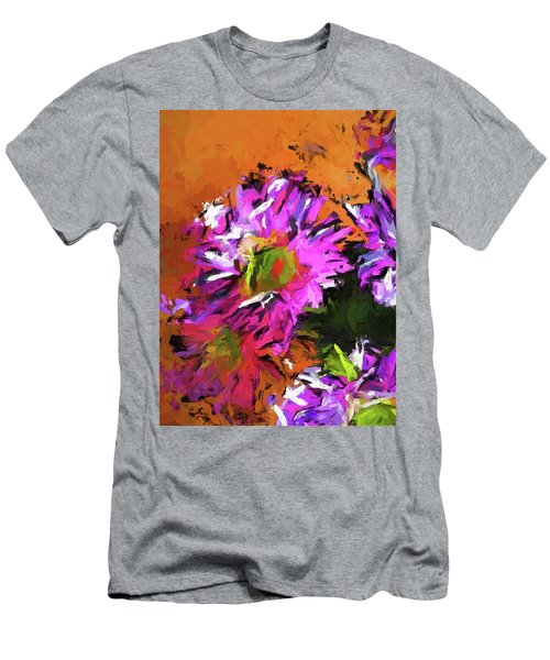 Daisy Rhapsody In Lavender And Pink Men's T-Shirt (Athletic Fit)