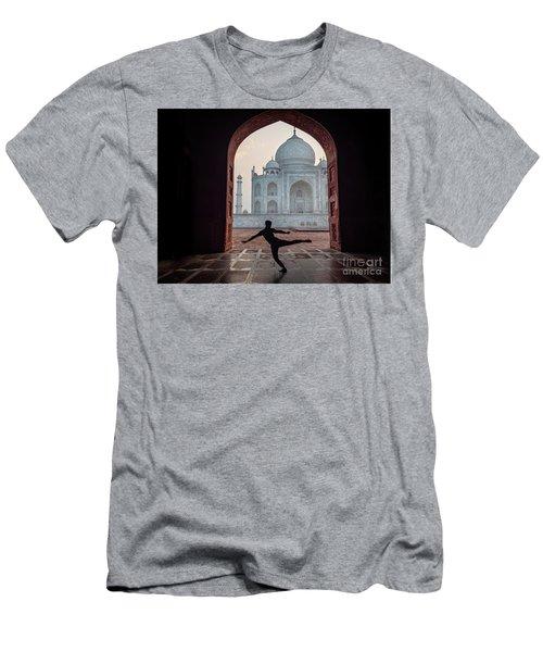 Dancer At The Taj Men's T-Shirt (Athletic Fit)