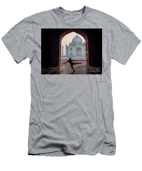 Dancer At The Taj Men's T-Shirt (Athletic Fit)