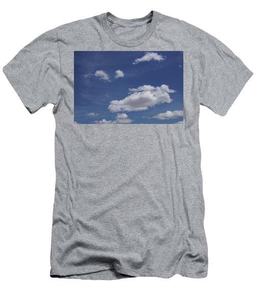 Deep Blue Sky And Fluffy Cumulous Cloud Men's T-Shirt (Athletic Fit)
