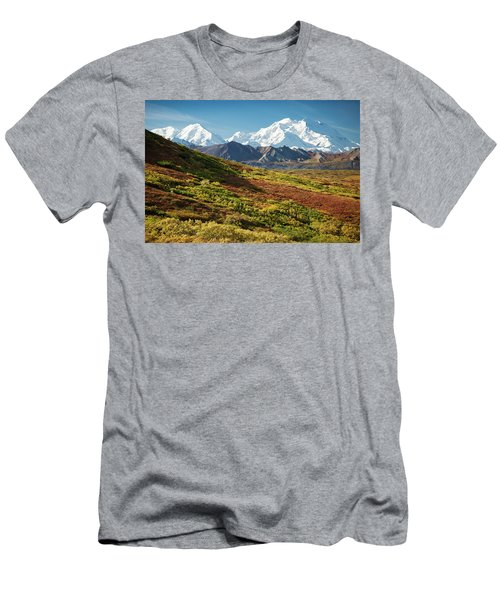Men's T-Shirt (Athletic Fit) featuring the photograph Denali Autumn by Tim Newton