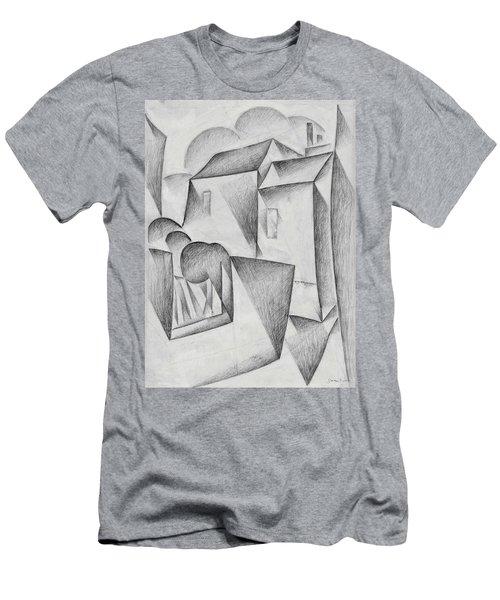 Digital Remastered Edition - Houses In Paris, Place Ravignan - Original White Men's T-Shirt (Athletic Fit)