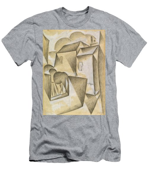 Digital Remastered Edition - Houses In Paris, Place Ravignan Men's T-Shirt (Athletic Fit)