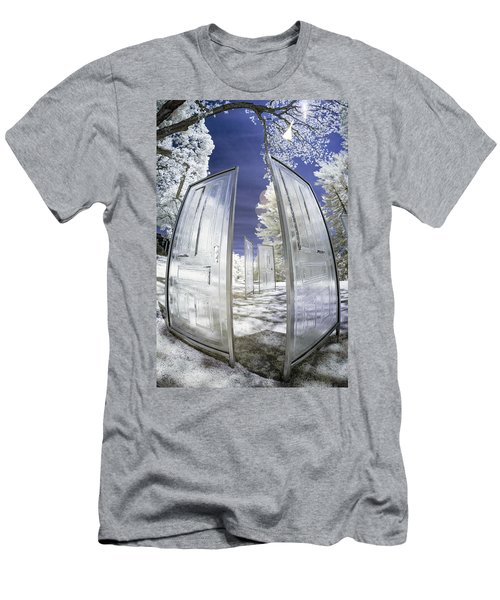 Men's T-Shirt (Athletic Fit) featuring the photograph Dimensional Doors by Brian Hale