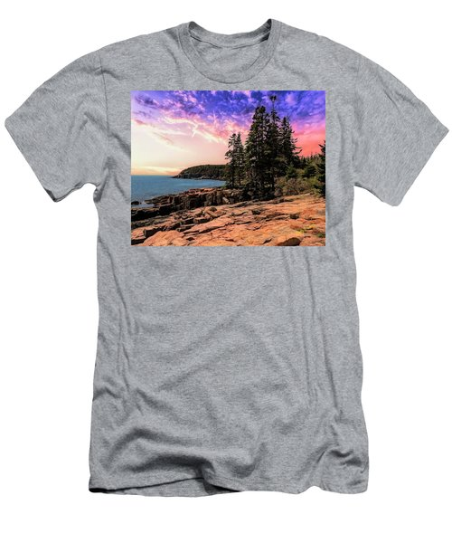 Distant View Of Otter Cliffs,acadia National Park,maine. Men's T-Shirt (Athletic Fit)