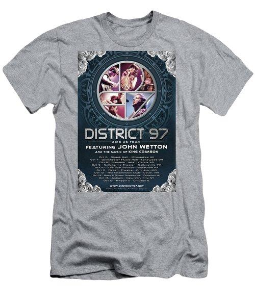 Men's T-Shirt (Athletic Fit) featuring the digital art District 97/john Wetton Us Tour by District 97
