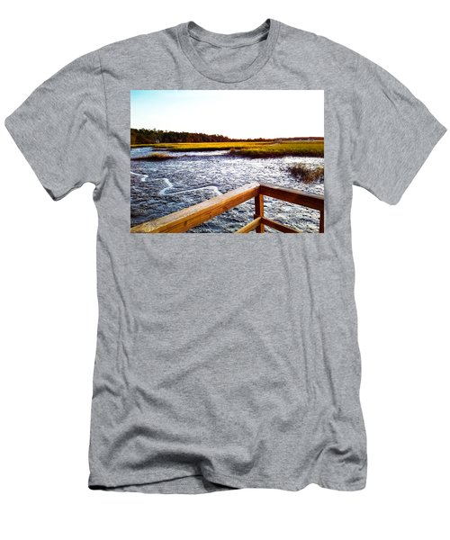 Men's T-Shirt (Athletic Fit) featuring the photograph Dock Point by Robert Knight