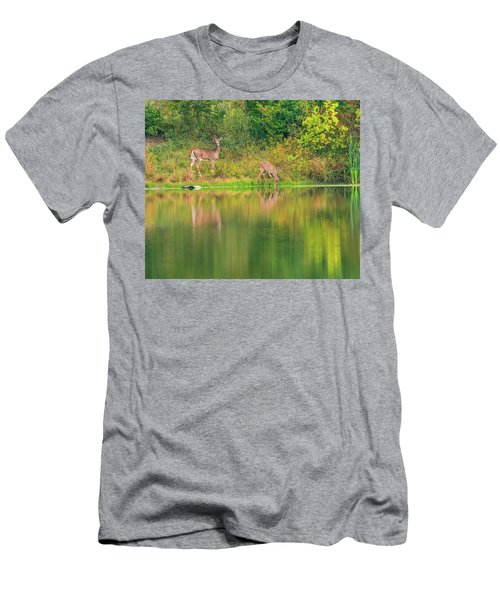 Men's T-Shirt (Athletic Fit) featuring the photograph Doe Reflection by Dan Sproul