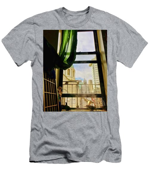 Doves In My Window Men's T-Shirt (Athletic Fit)