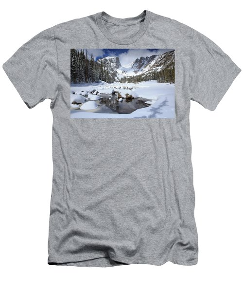 Dream Lake Winter Reflections  Men's T-Shirt (Athletic Fit)
