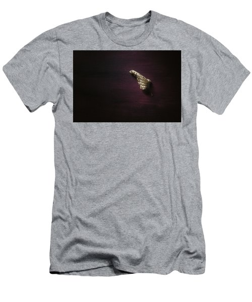 Dry Leaf On Muted Red Men's T-Shirt (Athletic Fit)