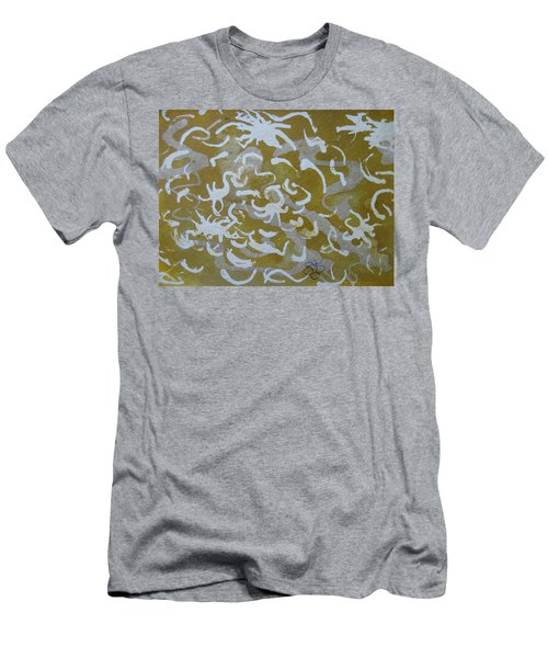Dull Yellow With Masking Fluid Men's T-Shirt (Athletic Fit)