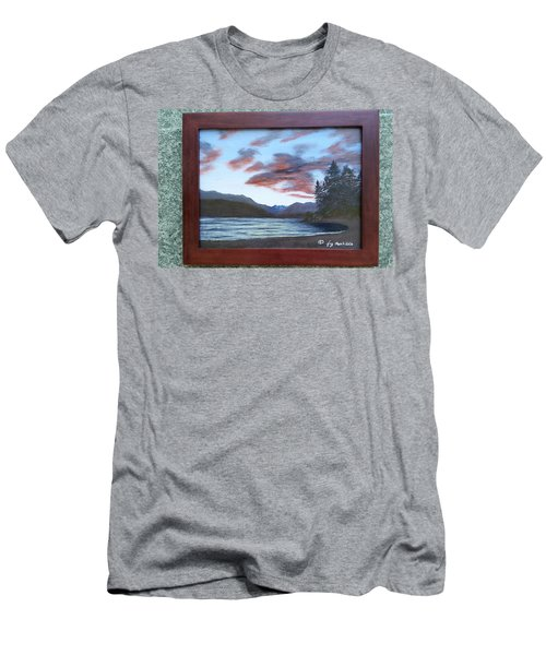 Dutch Harbour, Evening Sky Men's T-Shirt (Athletic Fit)