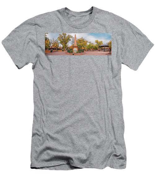 Early Morning Panorama Of Santa Fe Plaza - New Mexico Land Of Enchantment Men's T-Shirt (Athletic Fit)