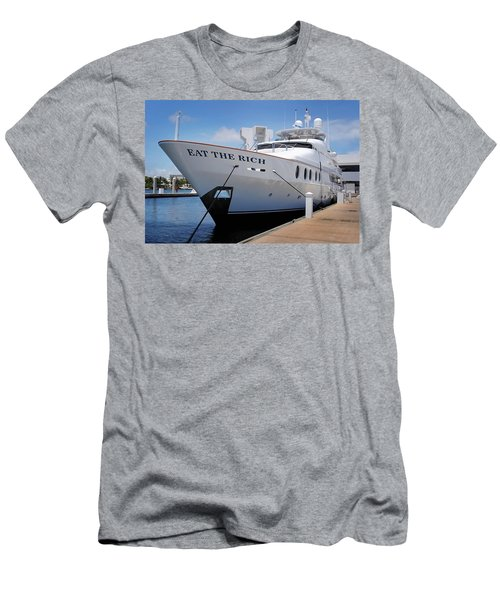 Eat The Rich Yacht Men's T-Shirt (Athletic Fit)
